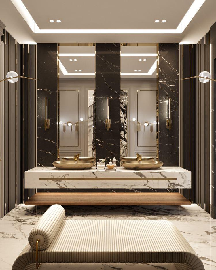 Luxury Interior Designer Angie Kripalani | blog on mini master class of classic powder rooms .