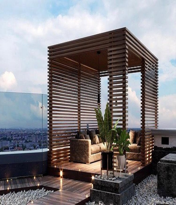 Angie Kripalani Blog On Terrace of Entertainment Space With Good Design.