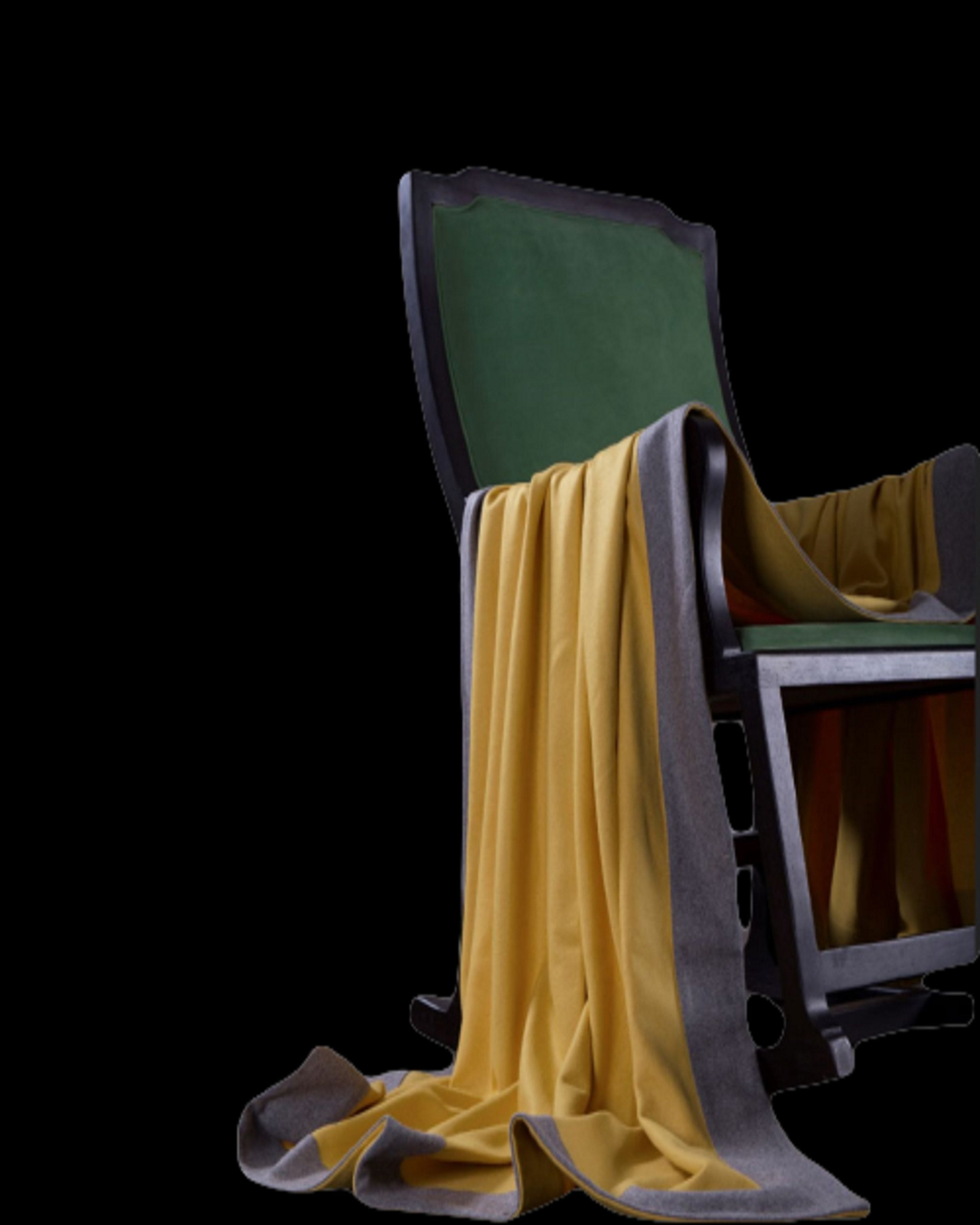 ABBY Yellow Luxury Wool & Knit Cashmere Throws and  Blankets-ANGIE HOMES angie kriplani design