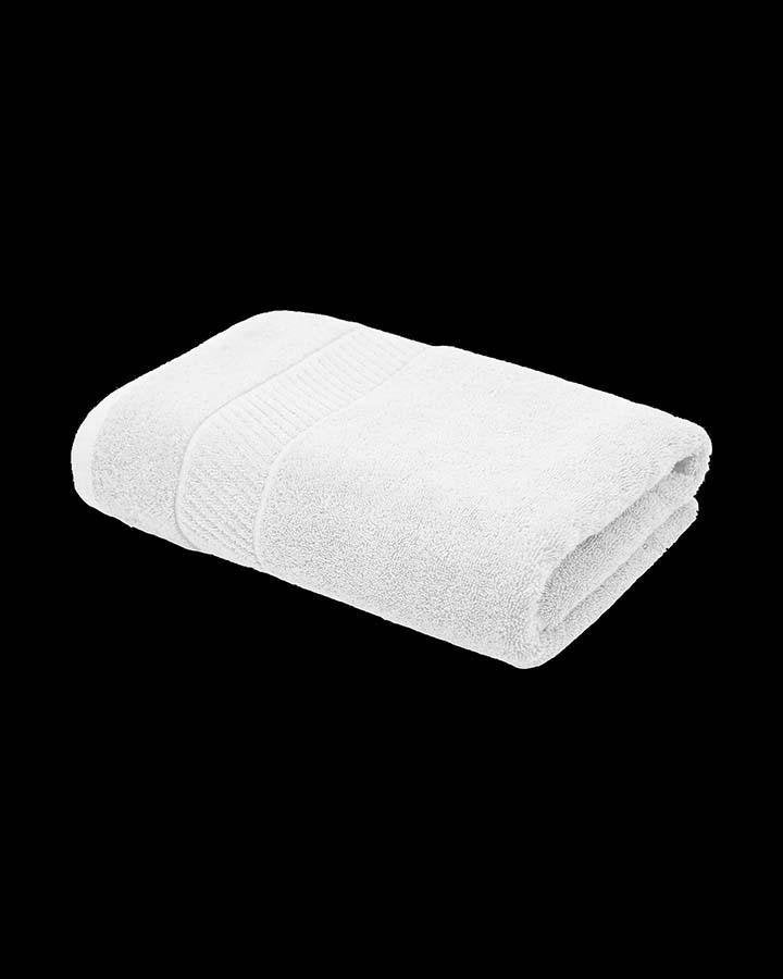 Luxury white colored bath towel Angie Homes