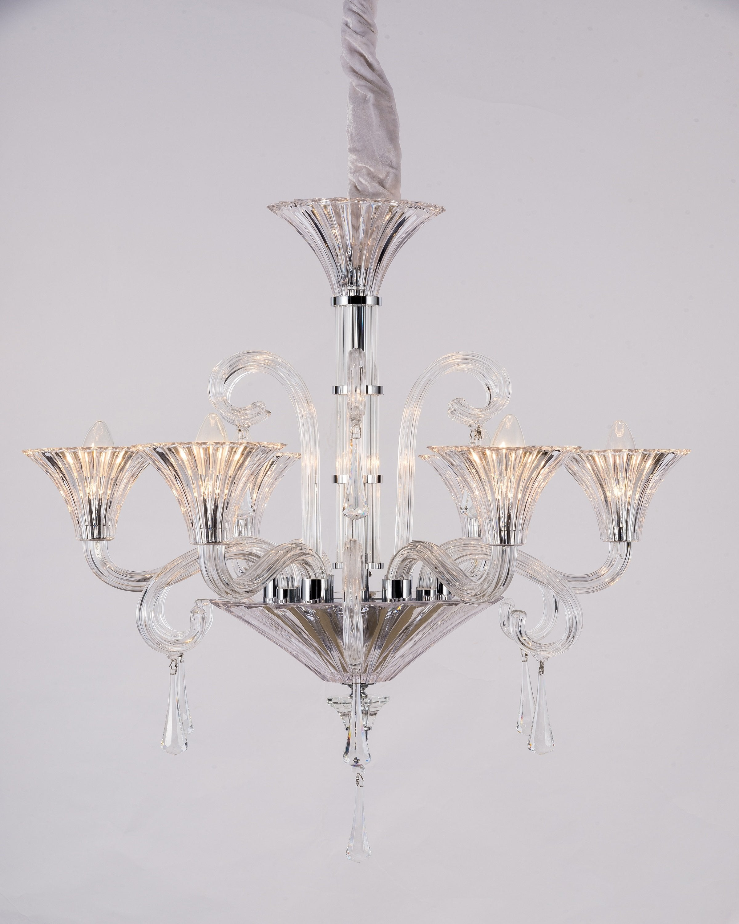 Modern transparent chandelier | ANGIE HOMES