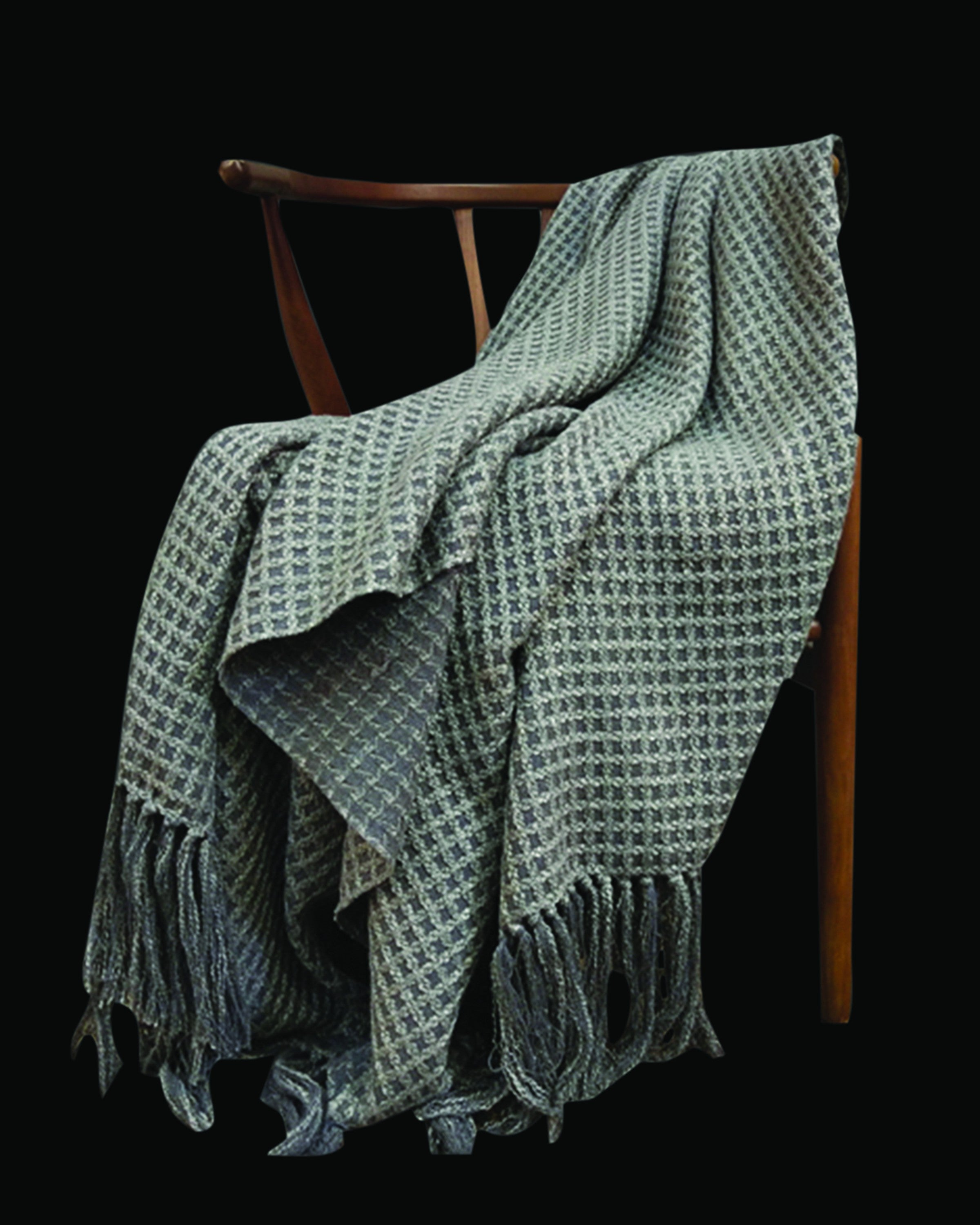 Modern grey check woolen throws & blankets | Angie Homes