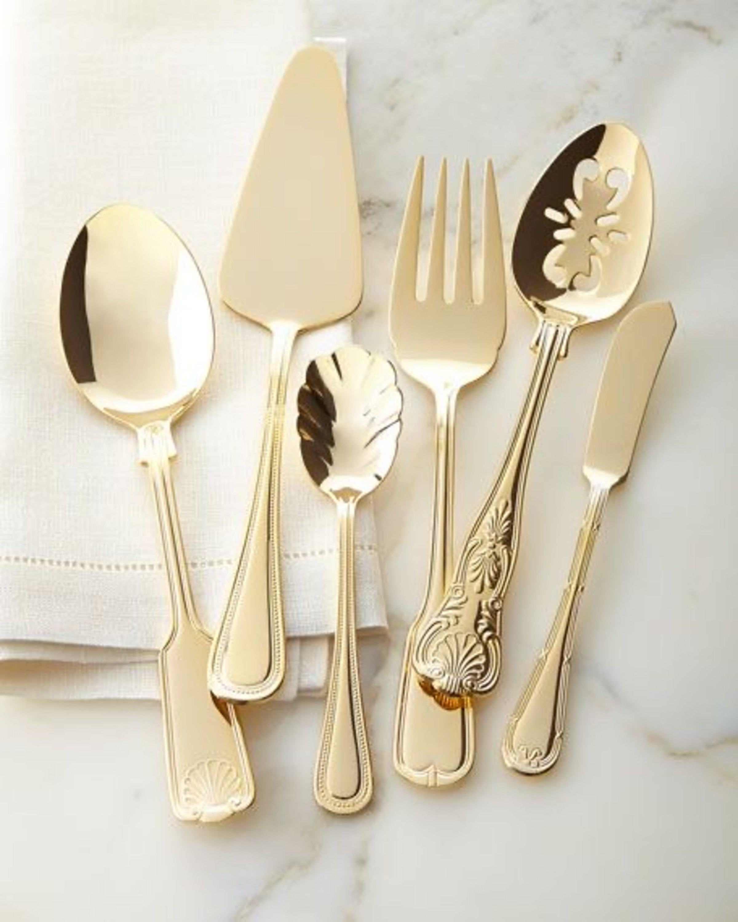 Luxury gold finish cutlery | Angie Homes