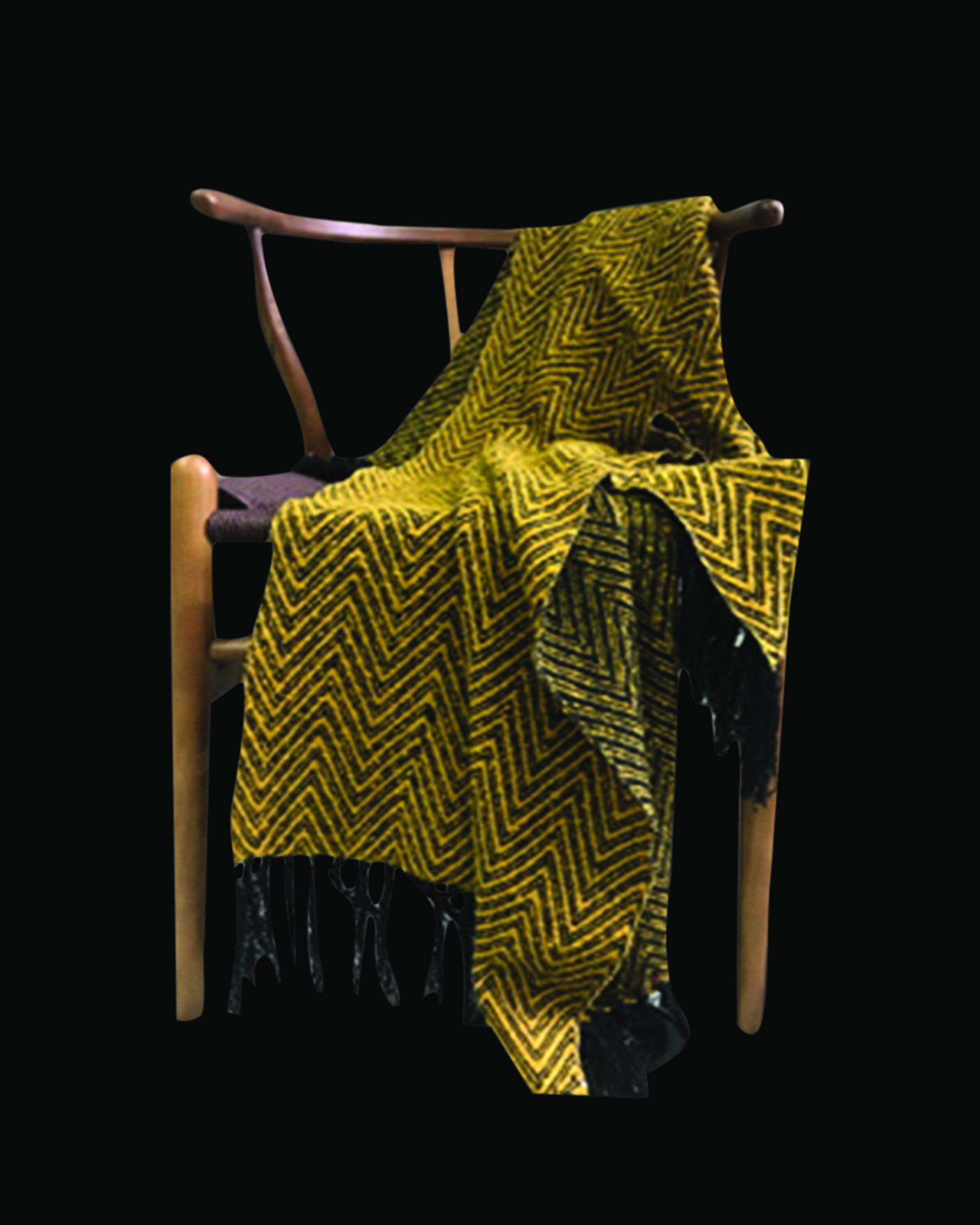 CLOVE  LUXURY  YELLOW & GREY THROWS- BLANKETS- ANGIE HOMES ANGIE HOMES