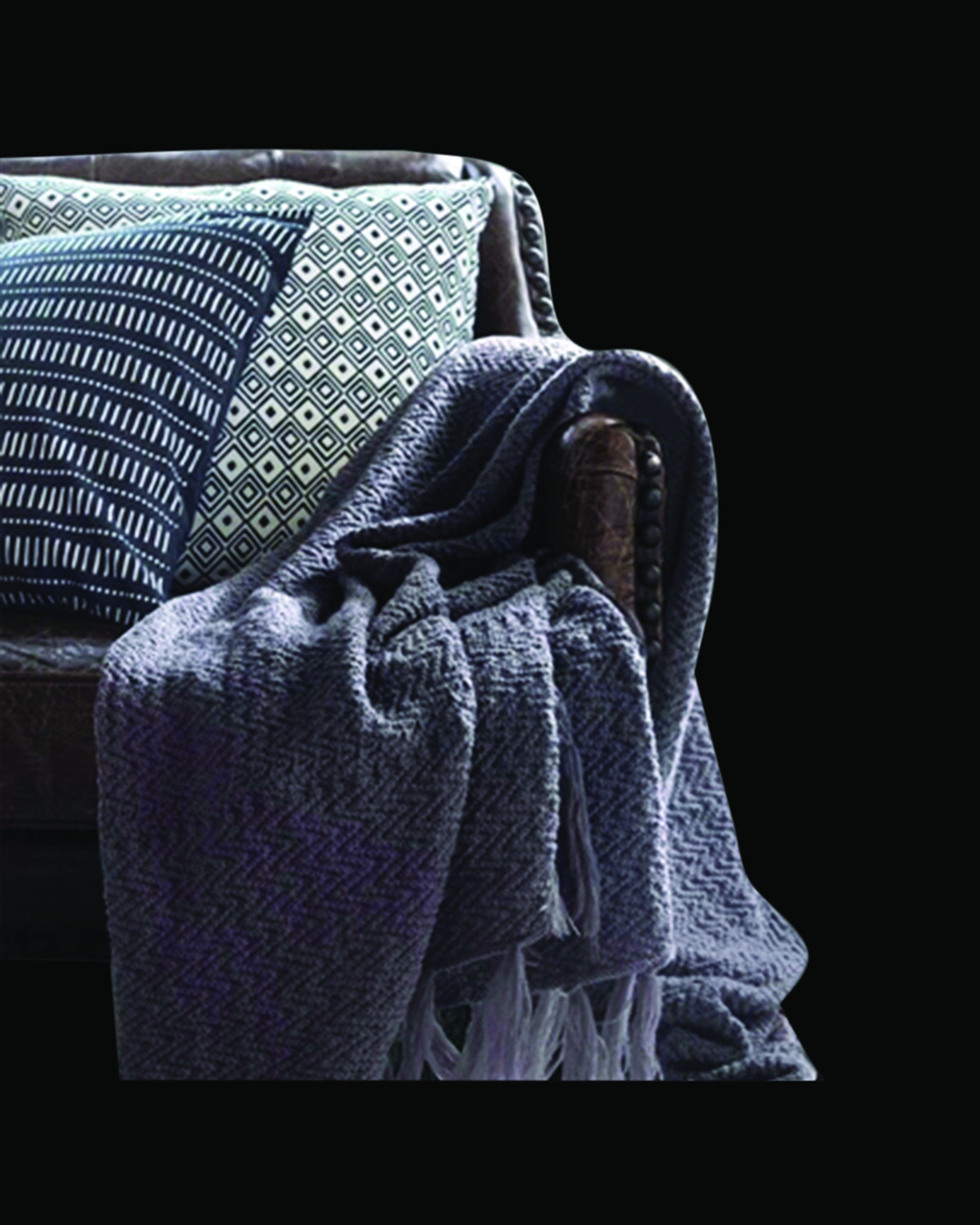 CRANE LUXURY GREY  THROWS AND BLANKETS- ANGIE HOMES ANGIE HOMES