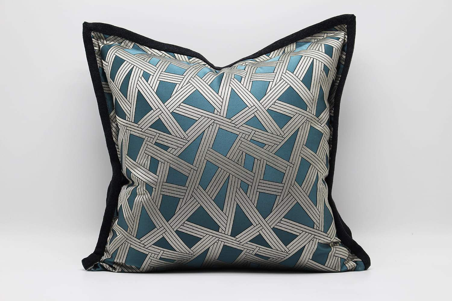 CROSS LUXURY BLUE PILLOWS AND CUSHION- ANGIE HOMES ANGIE HOMES