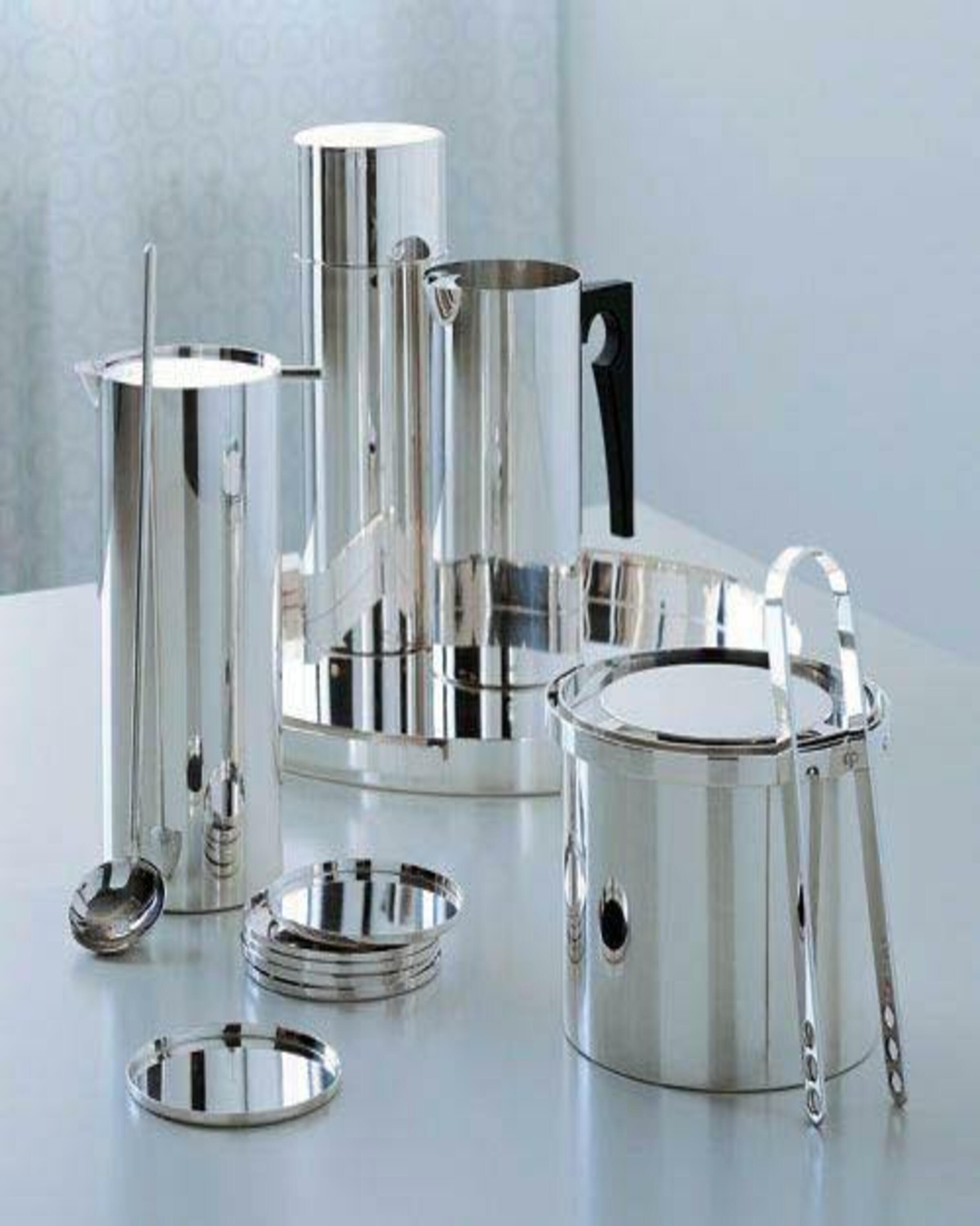 Chia silver pleated  modern tea set- server ware ANGIE HOMES