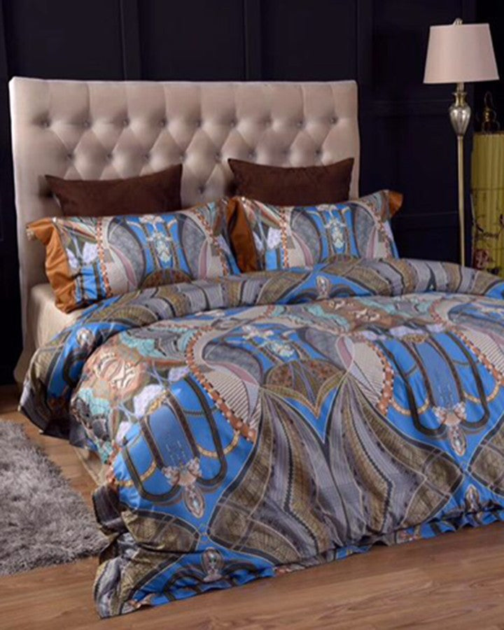 Cyprus BEST BLUE BED SET-4 PCS- ANGIE HOMES GZ