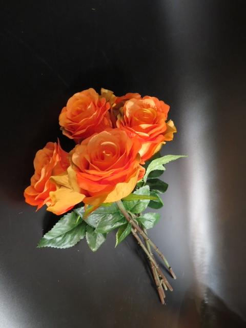 FRANCES ORANGE ARTIFICIAL FLOWER ANGIE HOMES