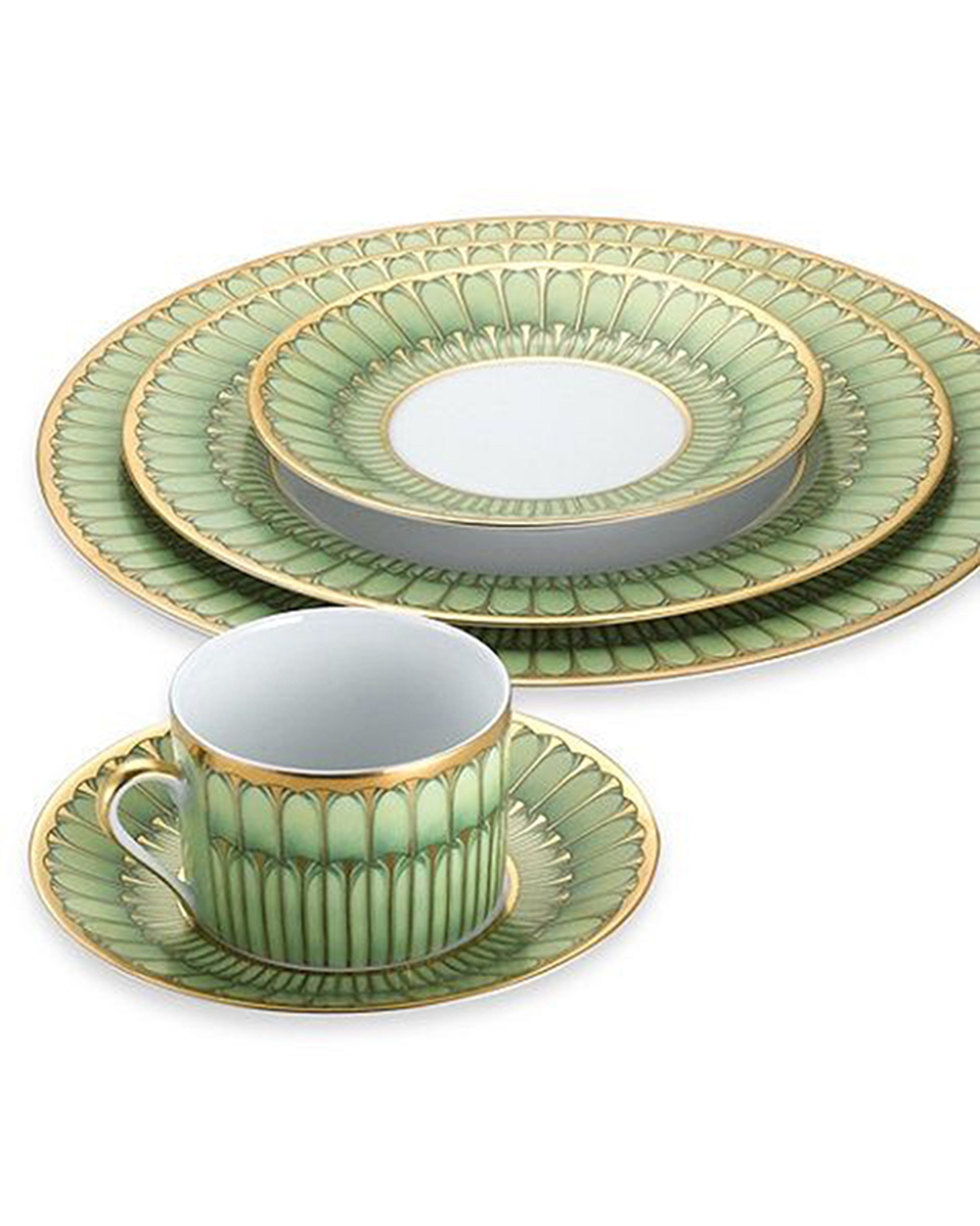 """modern tea sets with green colored Angie Homes"""