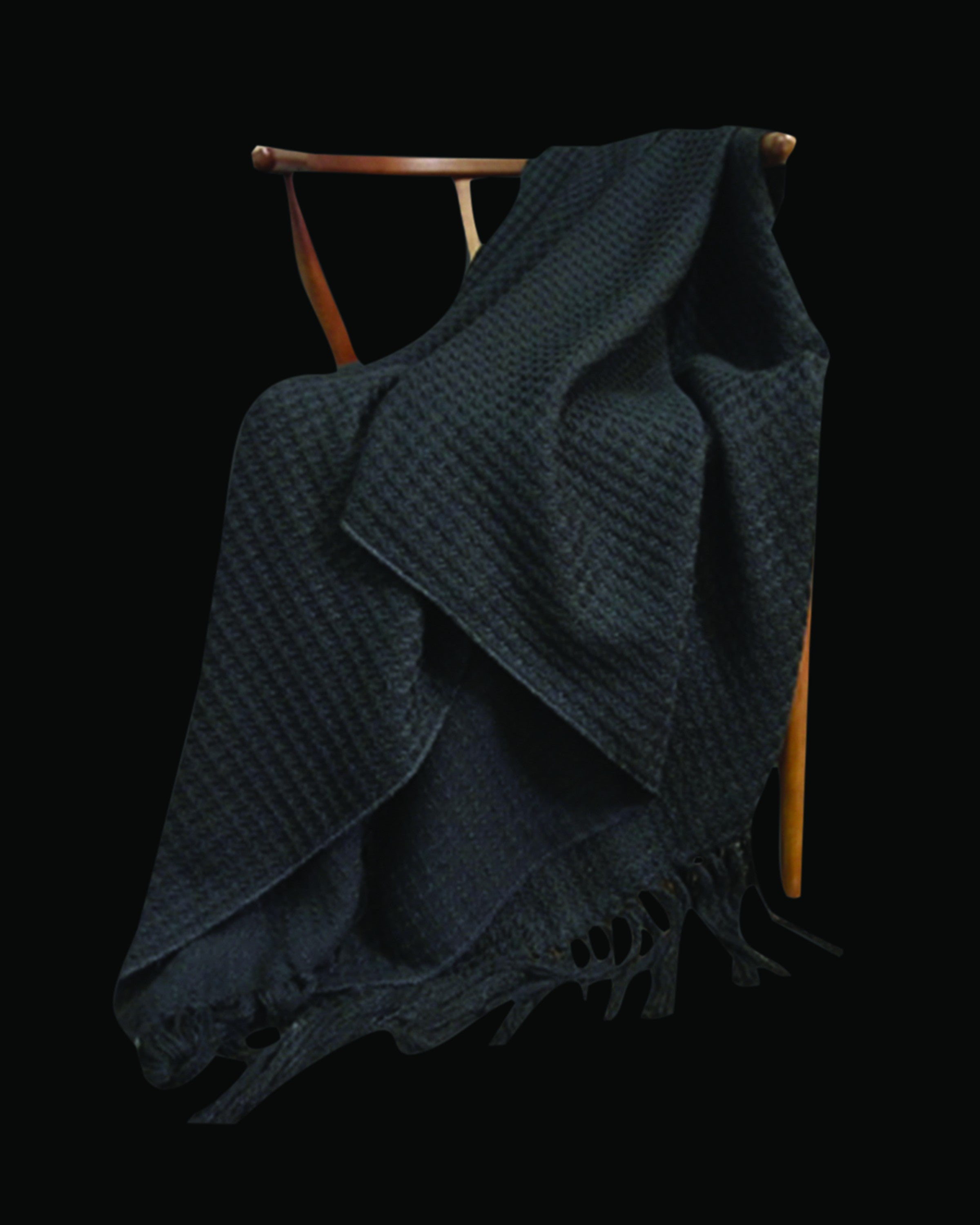GABLE  DARK GREY  THROWS & BLAKNKETS ANGIE HOMES ANGIE HOMES