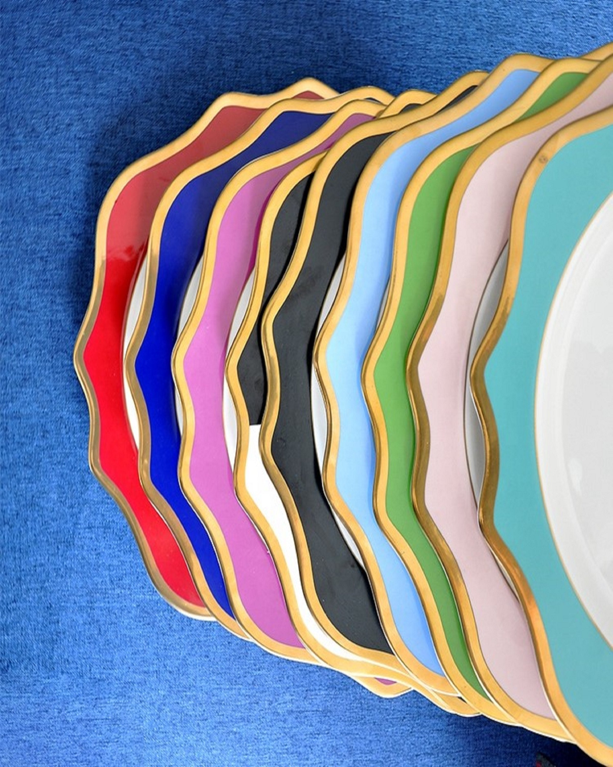 HALDEN COLOURFUL MODERN PLATES ANGIE KRIPALANI DESIGN - ANGIE HOMES- ANGIES INDIA