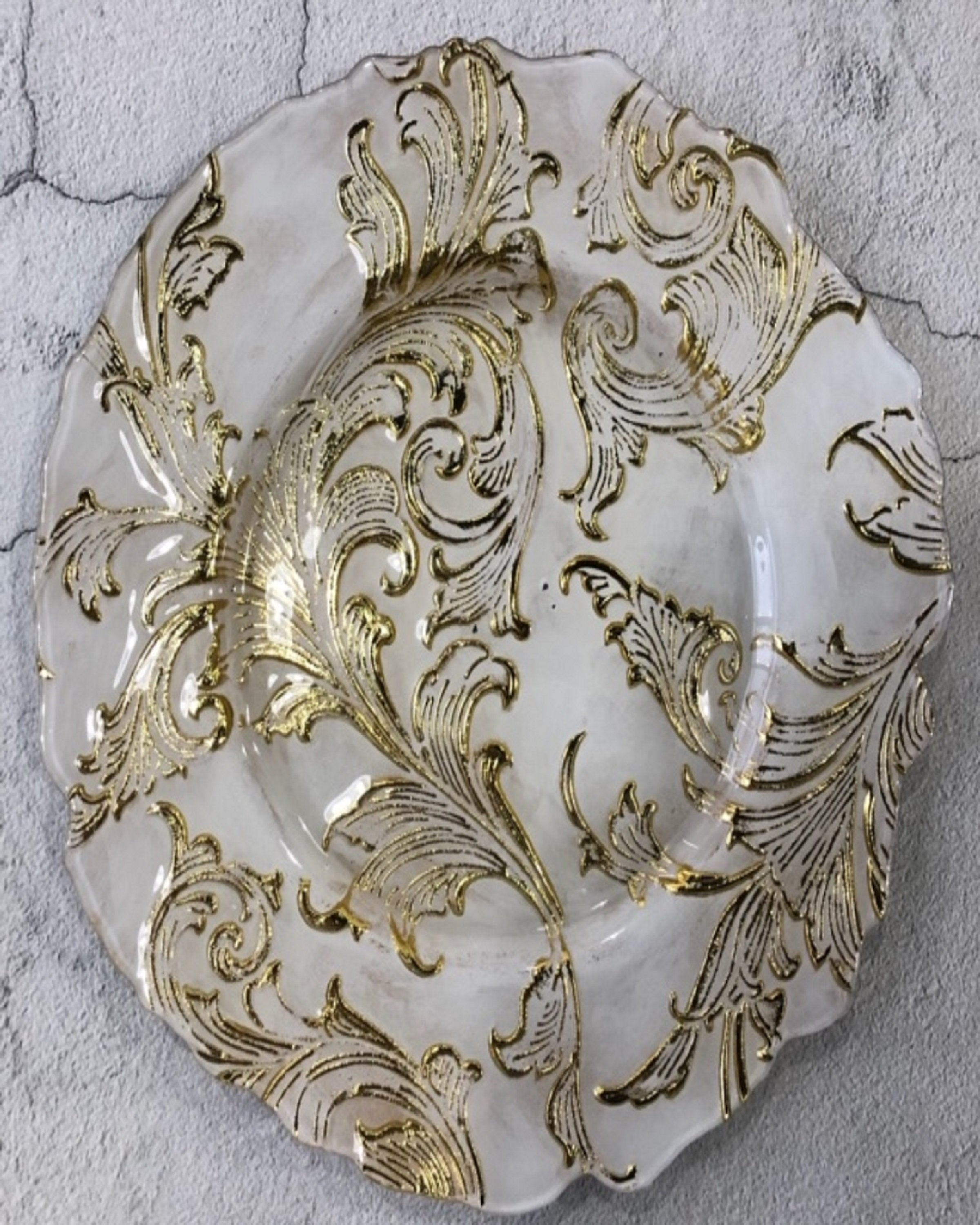 HALEY WHITE & GOLD CLASSIC PLATES ANGIE KRIPALANI DESIGN - ANGIE HOMES- ANGIES INDIA