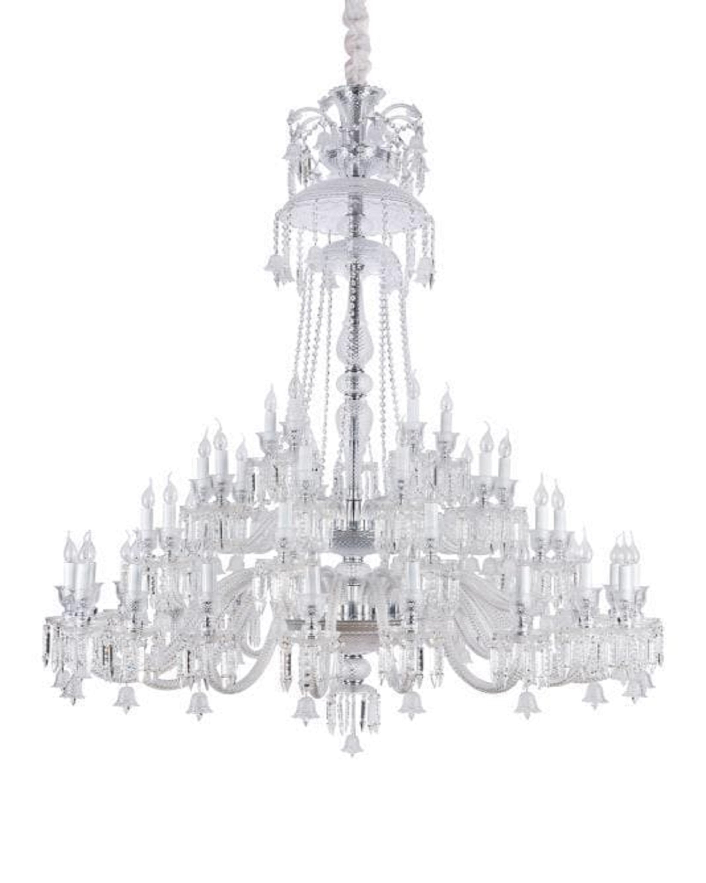 Luxury fusion  transparent chandelier | ANGIE HOMES