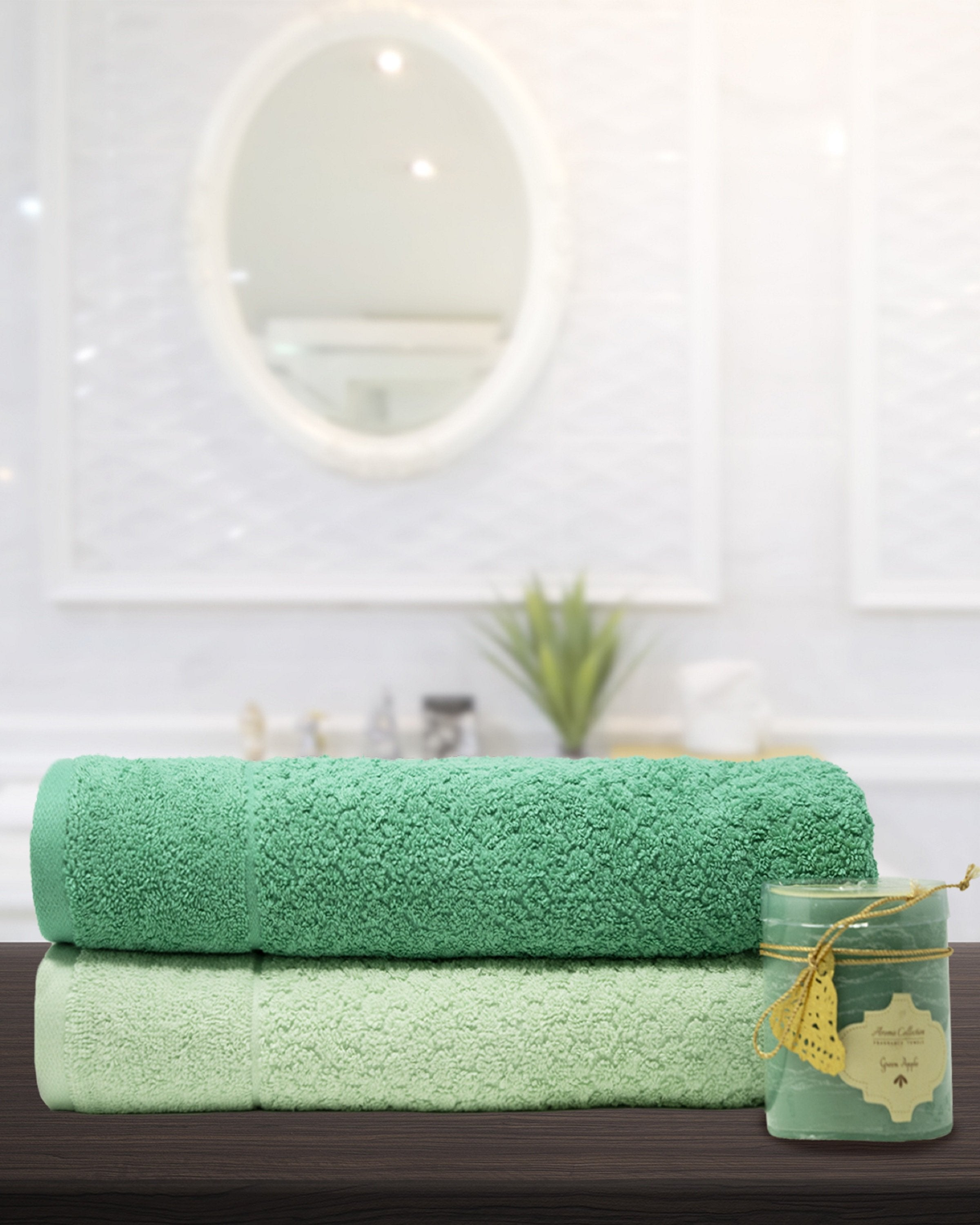 INDIGO BATH TOWELS- 2PCS- ANGIE'S INDIA ANGIE HOMES