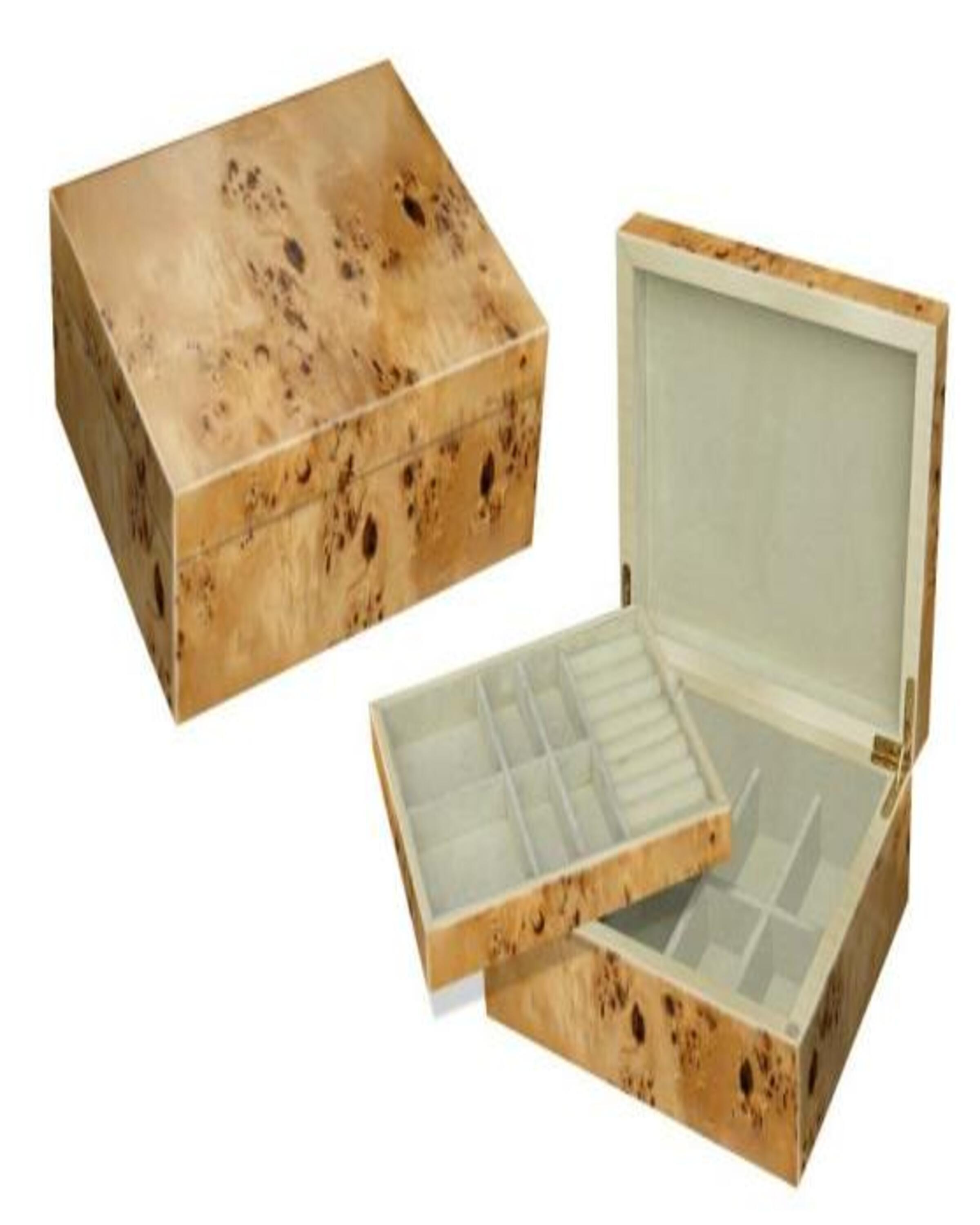 JADEN BEIGE BOX FOR WATCH  & ACCESSORIES ANGIE KRIPALANI DESIGN - ANGIE HOMES
