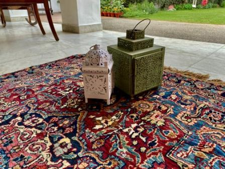 JAHAGIR LARGE RED -  KASHMIRI CARPET- ANGIE'S INDIA ANGIE KRIPALANI DESIGN - ANGIE HOMES- ANGIES INDIA