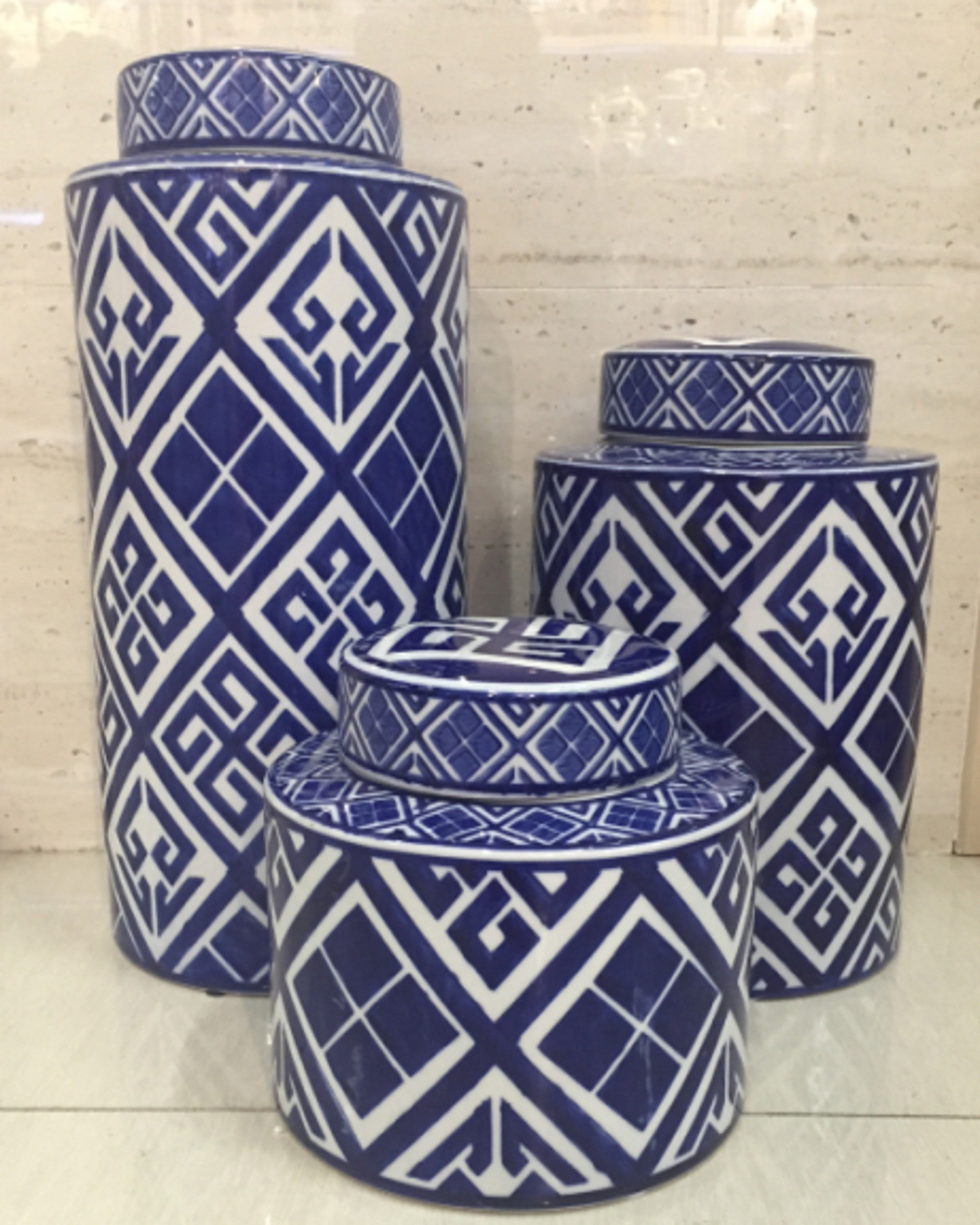 JINX  BLUISH VASES (SET OF 3)- ANGIEHOMES.CO ANGIE HOMES