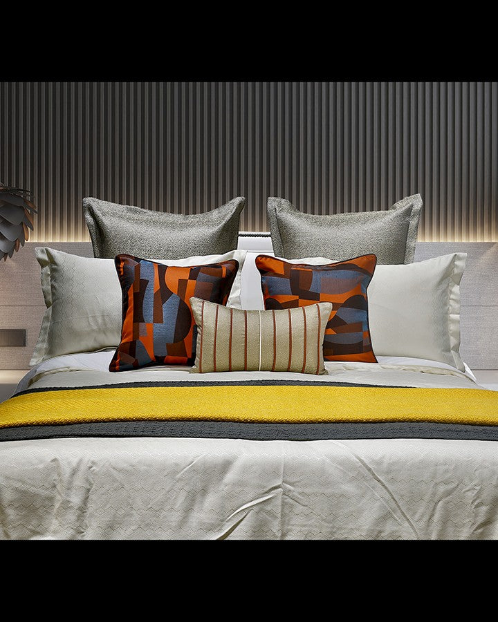 Luxury Modern bed set with colorful pillow | Angie Homes