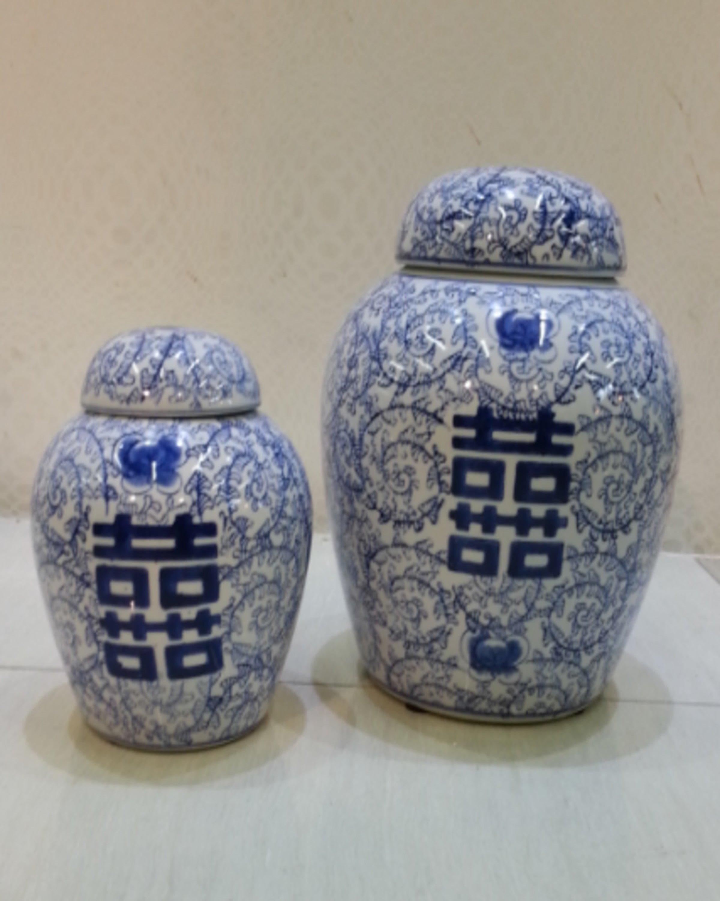 LOKI BLUE & WHITE VASES (SET OF 2)- ANGIEHOMES.CO ANGIE HOMES