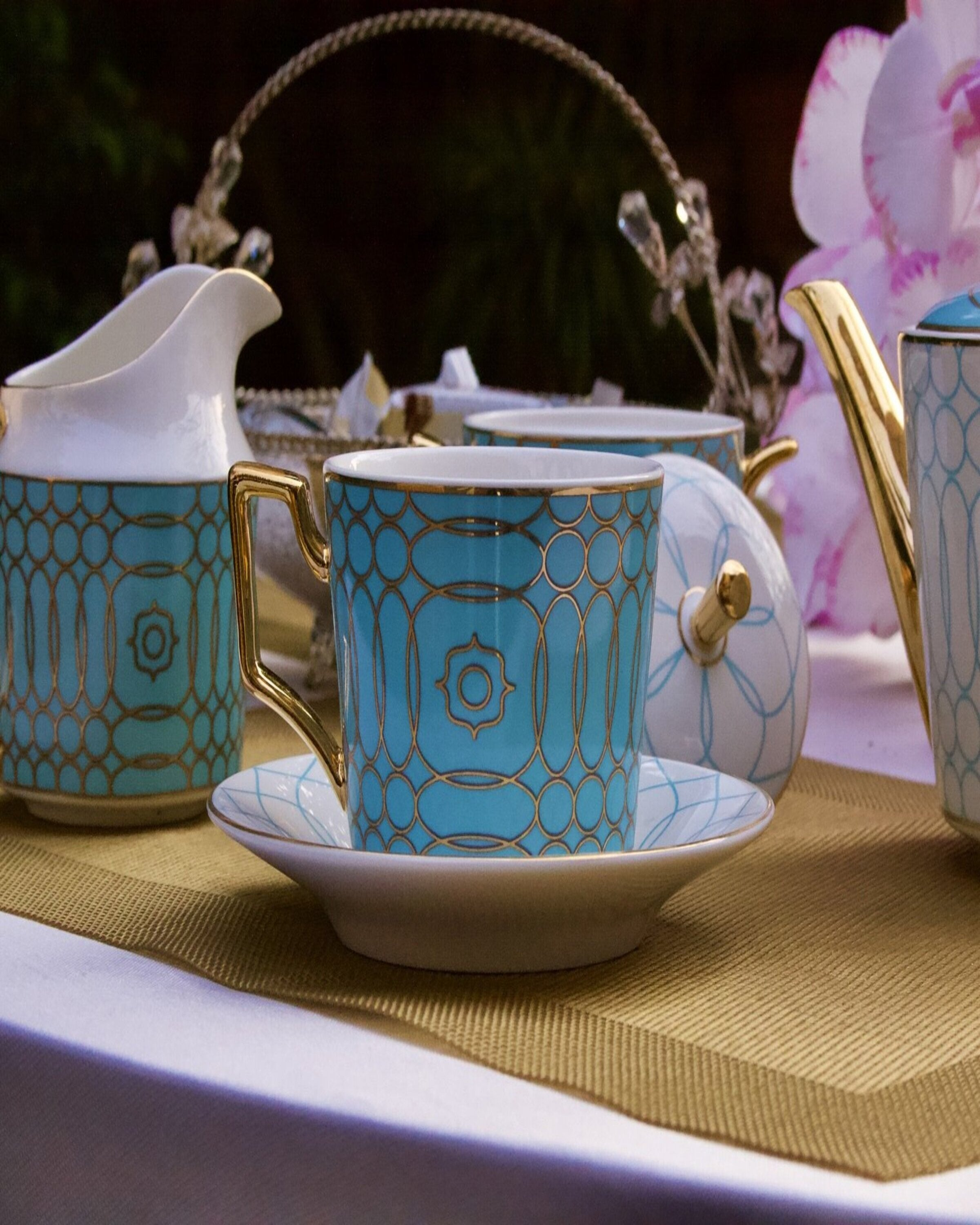 MALACITE TEA SET ANGIE HOMES