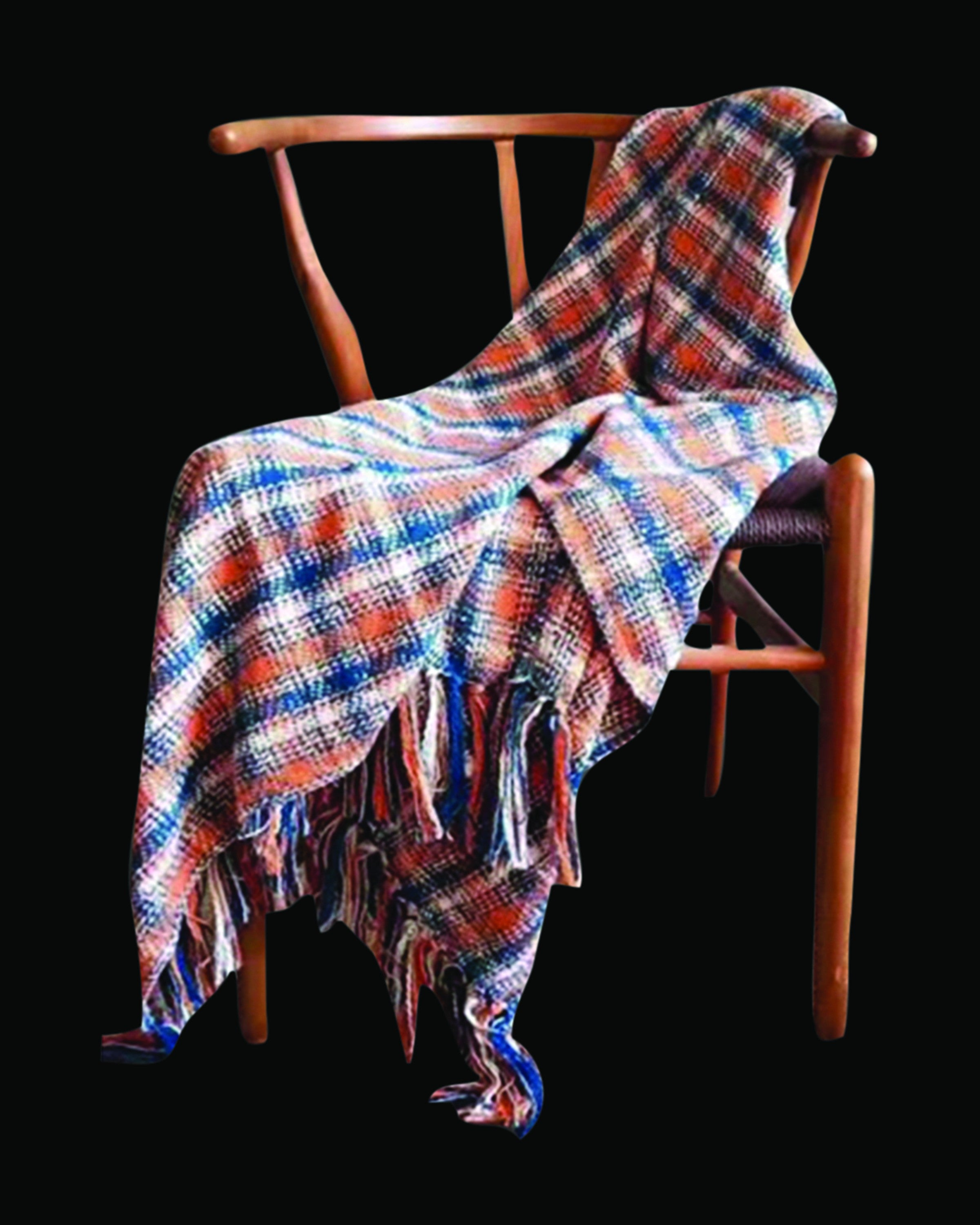 Modern orange check woolen throws & blankets |Angie Homes