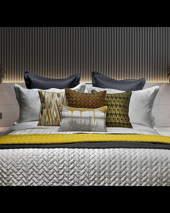 Luxury Modern grey and yellow bed sets | Angie Homes