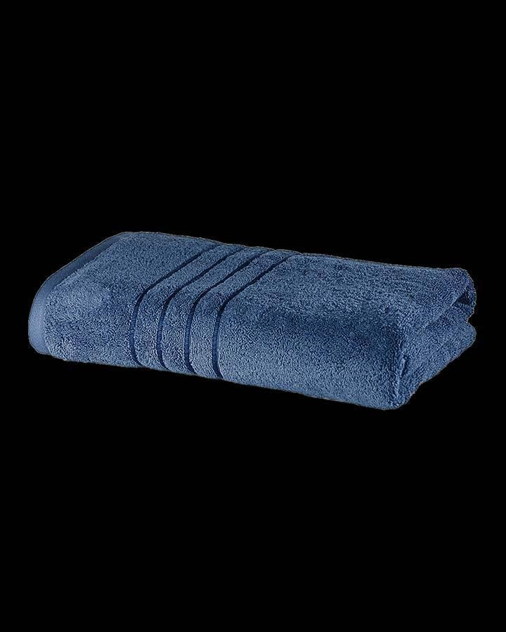 Luxury dark blue colored bath towel | Angie Homes