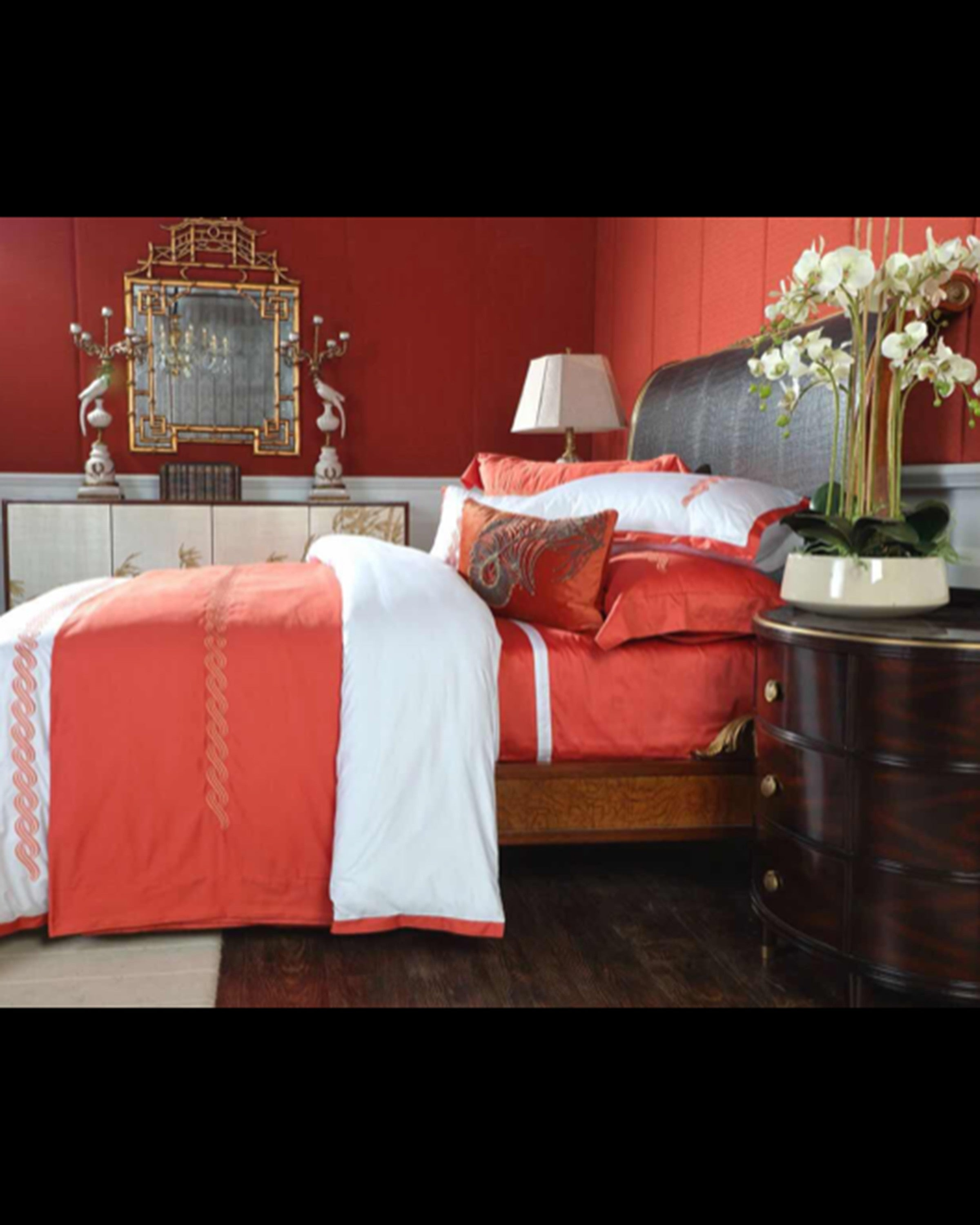 Luxury Red and white santa bed set | Angie Homes