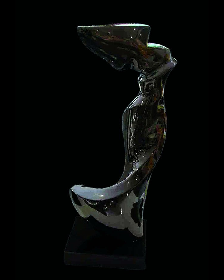 SAPPHO ABSTRACT  BLACK SCULPTURE(1 piece) ANGIE HOMES