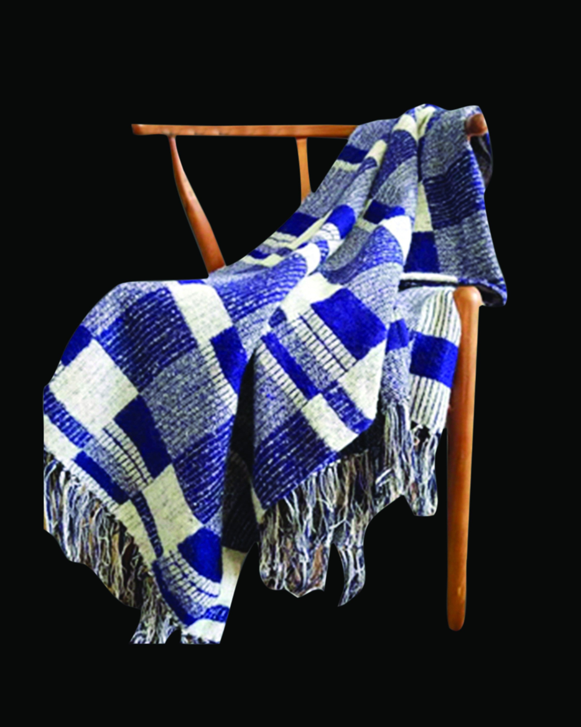 SUNNIVA  BEST BLUE & WHITE THROWS AND BLANKETS- ANGIE HOMES ANGIE HOMES
