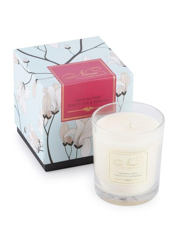 White Tea & Berries Candle ANGIE KRIPALANI DESIGN - ANGIE HOMES