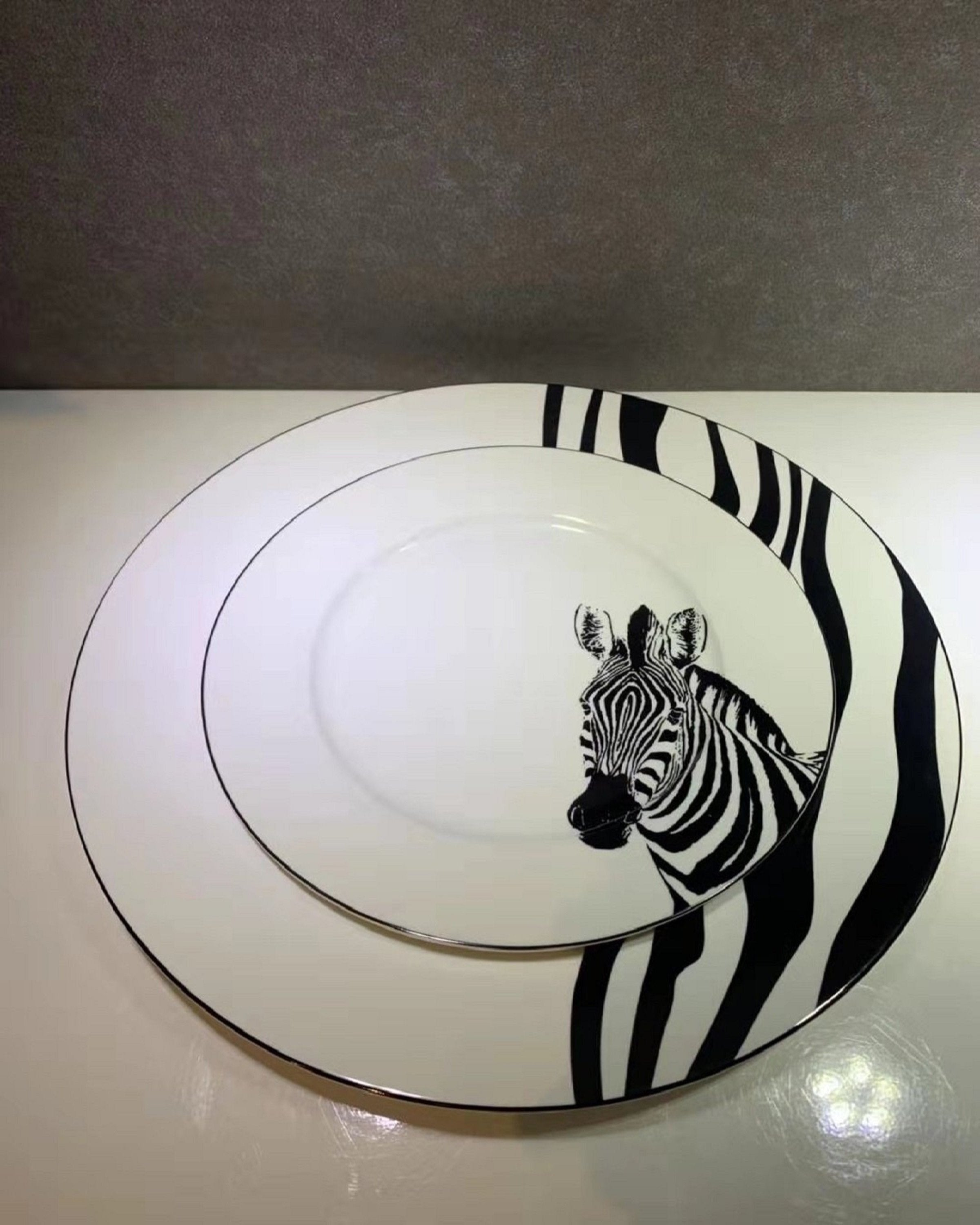 ZEBRA PORCELAIN PLATES ANGIE HOMES