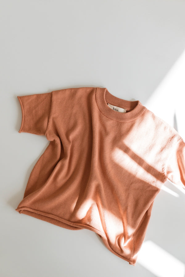 Knit Tee - Sunset
