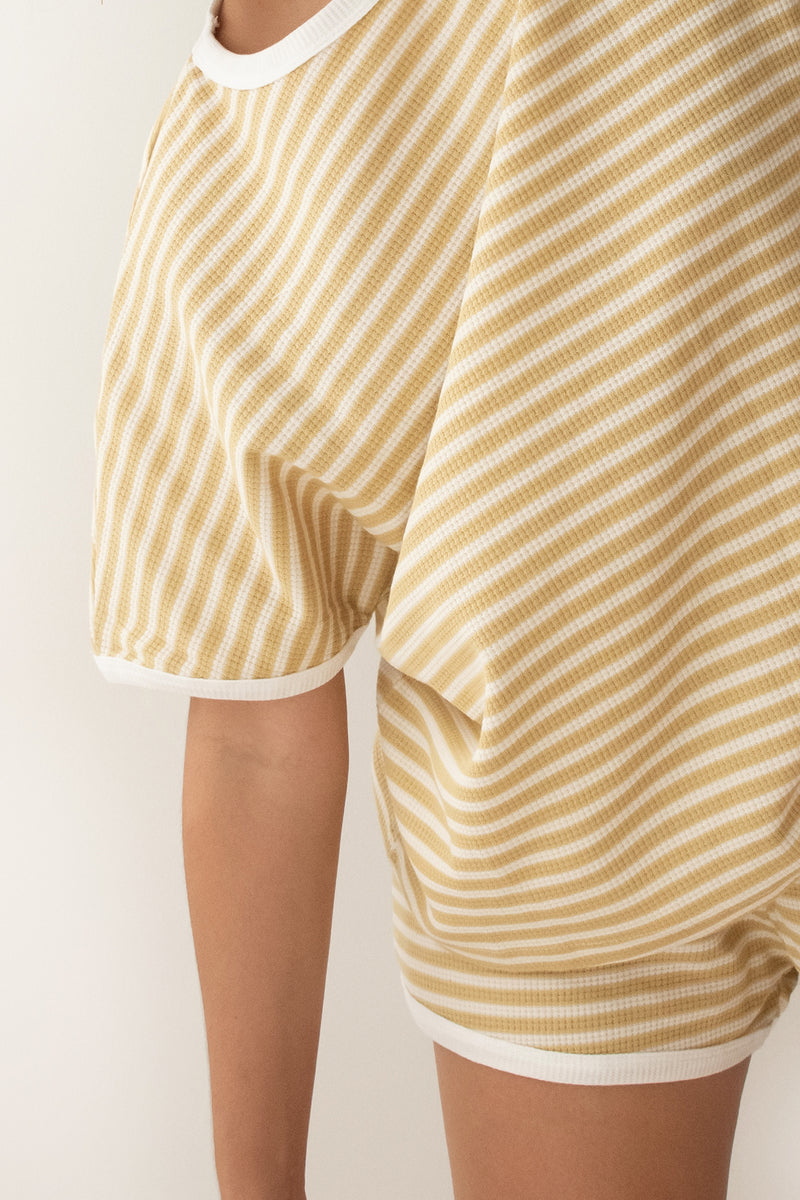 Weekend Set - Mustard Stripe