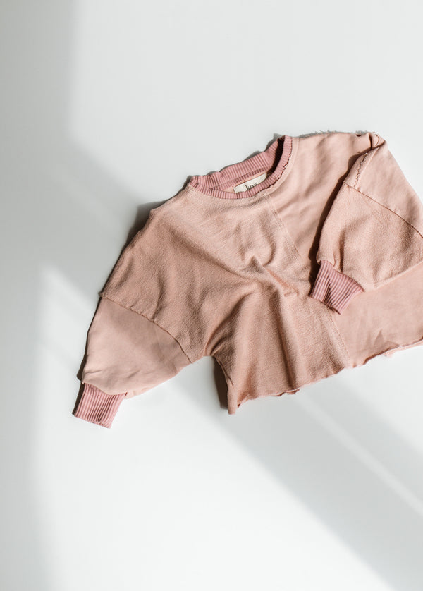 Signature Terry Pullover - Dusty Rose