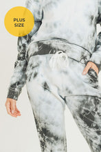Load image into Gallery viewer, Plus Size Cloud Tie-Dye Jacquard Terry Jogger