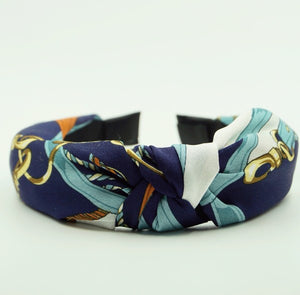 Printed Silk Top Knot Headband