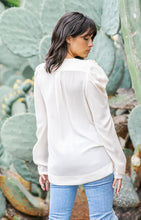 "Load image into Gallery viewer, Strut & Bolt ""Woodburne"" Hi-Lo Wrap Top - Cream"