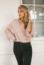Load image into Gallery viewer, Mauve Ruffle Wrap Blouse