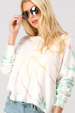 Load image into Gallery viewer, Tie Dye Shoulder Long Sleeve Sweatshirt