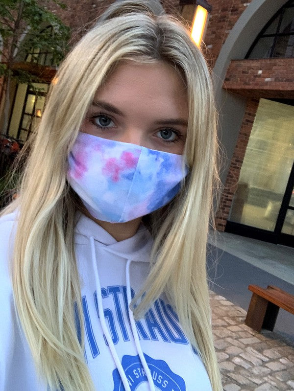 Women & Teen Tie Dye Mask