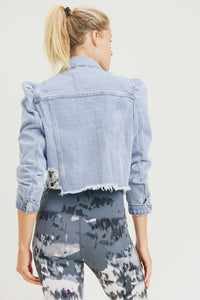 Puffed Denim Jacket