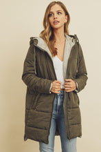 Load image into Gallery viewer, Hooded Puffer Jacket - Olive