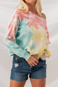 Trend Notes Tie-Dye Drop Shoulder Sweatshirt