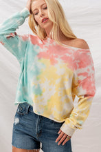 Load image into Gallery viewer, Trend Notes Tie-Dye Drop Shoulder Sweatshirt