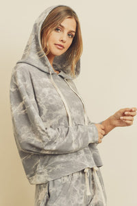 Tie-Dye Hooded Sweatsuit Set