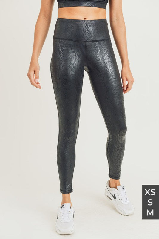 Glossy Shadow Snake Highwaist Leggings