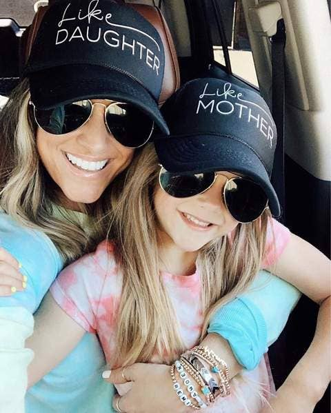 (MOM HAT)  - Like Mother, Like Daughter Hats - Mother's Day - Trucker Hat