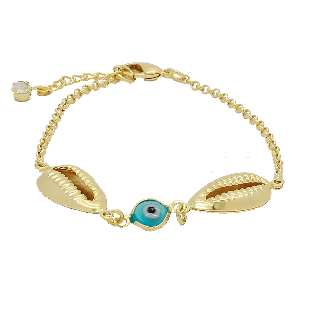 Happy Elsie Shop - Evil Eye Bracelet with Gold Filled Charms